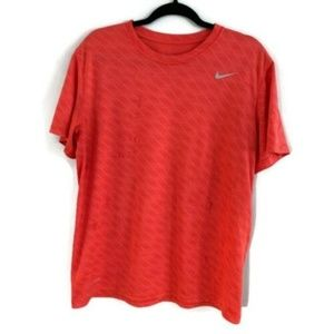 Men's Large Nike Dri Fit Red Tshirt Crew Neck